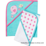 Baby Hooded Towel Set with Embroidery Design