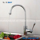 Kitchen Hot&Cold Mixer Faucet Tap Sink Brass Chrome Single Handle Hole Sanitary Ware