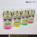 16oz Colored Pint Glass with Glitter Decal