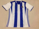 2016 2017 Real Sociedad Blue and White Football Jerseys