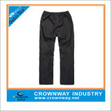 Mens Classical Polyester Waterproof Pants with Elastic Waistband