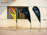 2.8m Exhibition Fiberglass Single or Double Sided Printing Teardrop Flag/Flying Flag/Beach Flag
