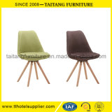 Wholesale Modern Cheap Leisure Plastic Dining Chairs with Wooden Legs