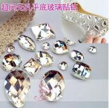 Clear Flat Back Glass Diamonds Beads Stones