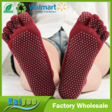 Wholesale Cotton Offset Printing Wuzhi Non Slip Yoga Socks