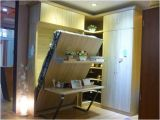 Fashion Vertical Tilting Single Wall Bed with Table and Shelf