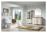 White Bathroom Cabinet Made of Oak Wood