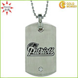 Stainless Steel Men′s Diamond-Cut Dog Tag Necklace Print Logo