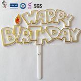 Happy Birthday Plastic Cake Decoration