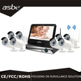 8CH Wireless Bullet IR Camera P2p NVR CCTV Security System Kits with LCD Screen