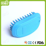 Light Blue Rubber Pet Dog Brush (HN-PG306)