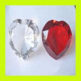 Optic Heart Shaped Crystal Clear Diamond for Wedding Favor