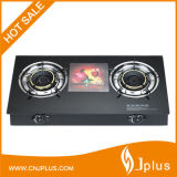 Tempered Glass Table-Top Two Cast Iron Burner Gas Cooker Jp-Gcg250