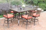 Hot Cast Aluminum 7 PC High Dining Garden Set Furniture