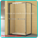 Shower Enclosure with Aluminum Frame for Hotel Using (A-8948B)
