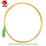 Sc APC Singlemode 9/125 PVC/LSZH Jacket Fiber Optic Pigtail