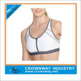 Custom Best Women Sports Bra with Zipper Front Closure Design