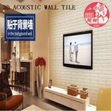 Decorative PVC 3D Soundproof Self Adhesive Brick for Restaurant
