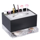 All in One Premium Acrylic Makeup and Tissue Organizer