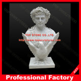 White Marble Bust Sculpture Bust Statue for Home Decoration