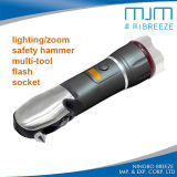 Auto Car Safety Hammer Multifunction Zoomable LED Warning Light (807F)