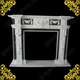 Marble Carving Fireplace Mantel for Home Decoration (GS-FF-026)