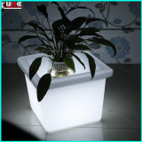 LED Outdoor Garden Plastic Colour Changing Plant Flower Pot with LED