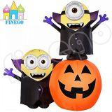 Halloween Inflatable Vampire Minion Bob on Pumpkin