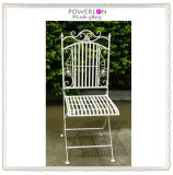 French Vintage Stackable White Metal Wedding Chair (PL08-5803)