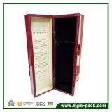 Customized Red High Glossy Polished Wooden Wine Box