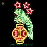 Christmas Lantern Light 2D Pole Motif Light for outdoor Decor