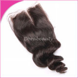 Lace Closure Loose Wave Brazilian Virgin Hair Accessory