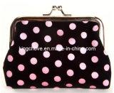 Fashion Black Cotton with Pink Dots Cosmetic Bag / Fashion Bag (KCC52)