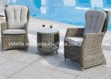 PE Rattan Bistro Garden Chatting Set Leisure Chair