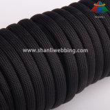 8mm Black Nylon Rope Cord for Bags, Climbing, Outdoor Sports