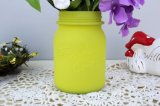Mason Jar Yellow Glass Vase Table Center