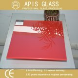 Silk Screen Printed Glass/Colored Ceramic Painting Tempered Glass for Furniture/Bathroom