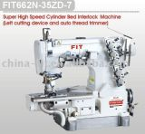 Super High Speed Cylinder Bed Interlock Machine (left cutting device and auto thread trimmer) (FIT 662N-35ZD-7)