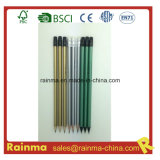 Silver Gold Metal Color Barrel Wooden Hb Pencil