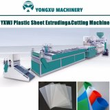 Yxwj Single Screw Plastic Sheet Extruding & Cutting Machine, Plastic Sheet Extruder with Cutting Equipment, Office Folders Sheet Extruder Connect with Cutter