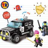 Kids Plastic Police Car Blocks Toy