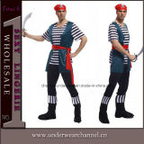 100% Actual Picture Wholesale Sexy Adult Men Pirate Costume (TCQ011)