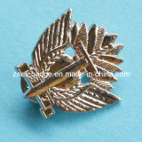 3D Silver Lapel Pin with Clutch (Ele-P059)