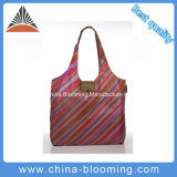 Promotional Polyester Printed Folding Recycling Carry Shopping Tote Bag