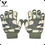 Five Finger Knit Rubber Print Military Camouflage Glove