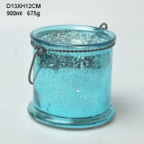 Colored Home Decorative Glass Candle Holder (21-0072)