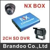 2CH Mini Car DVR SD Video Audio CCTV DVR Recorder
