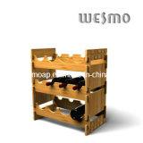 Wine Display Bottle Rack with Bamboo