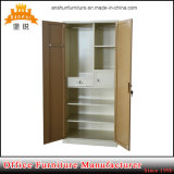 Best Selling Kd Cheap Metal Steel 2 Doors Clothes Cabinet