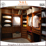 Big Wood Wardrobe Closet with Glass Doors